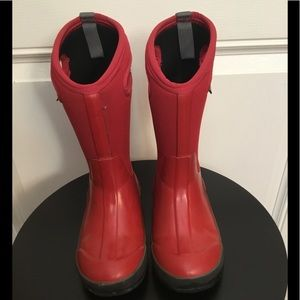 BOGS Waterproof Red Rubber Boots